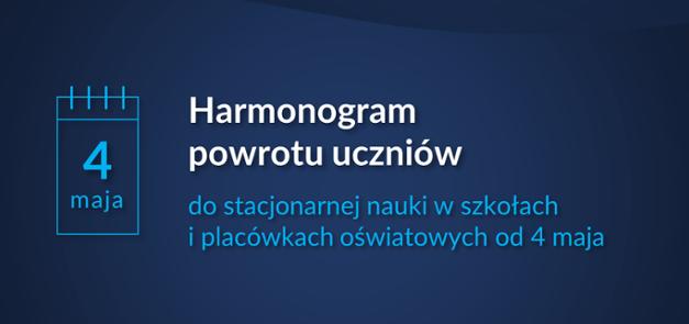Harmonogram powrotu uczniów do szkół od 04.05.2021